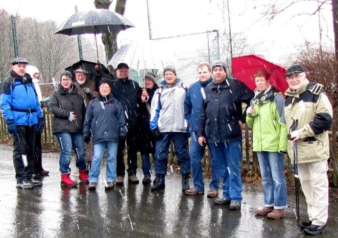 Gruppenfoto Winterwanderung 2011