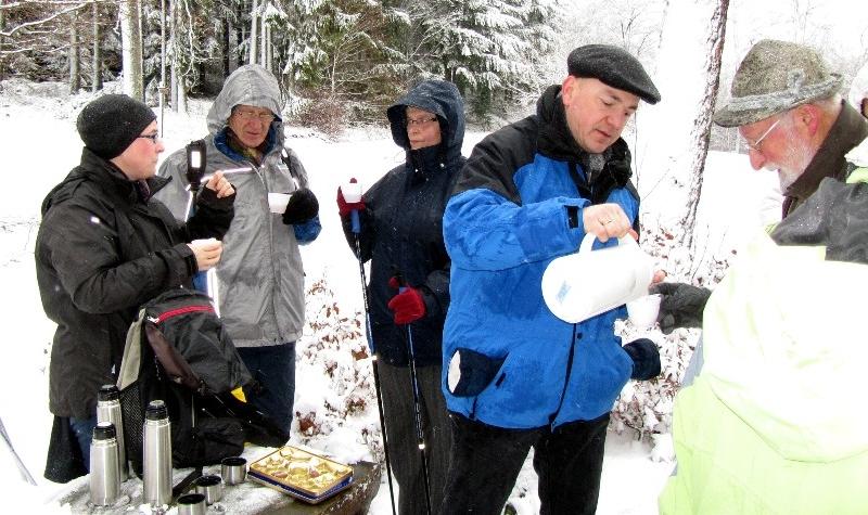 Kaffeepause Winterwanderung 2011